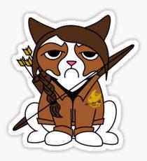Grumpy Katniss Sticker