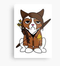 Grumpy Katniss Metal Print