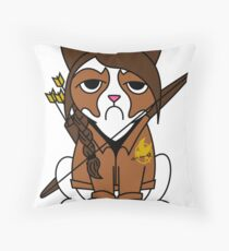 Grumpy Katniss Throw Pillow