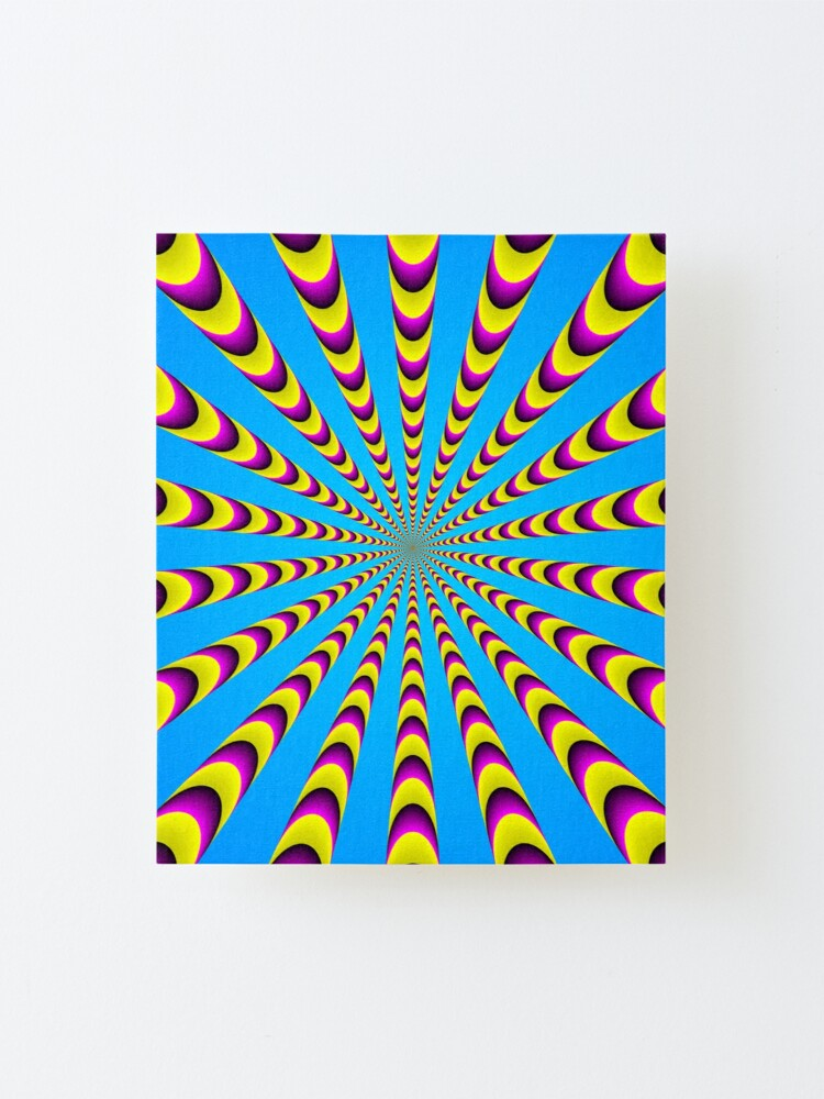 Alternate view of Optical iLLusion - Abstract Art, Mounted Print