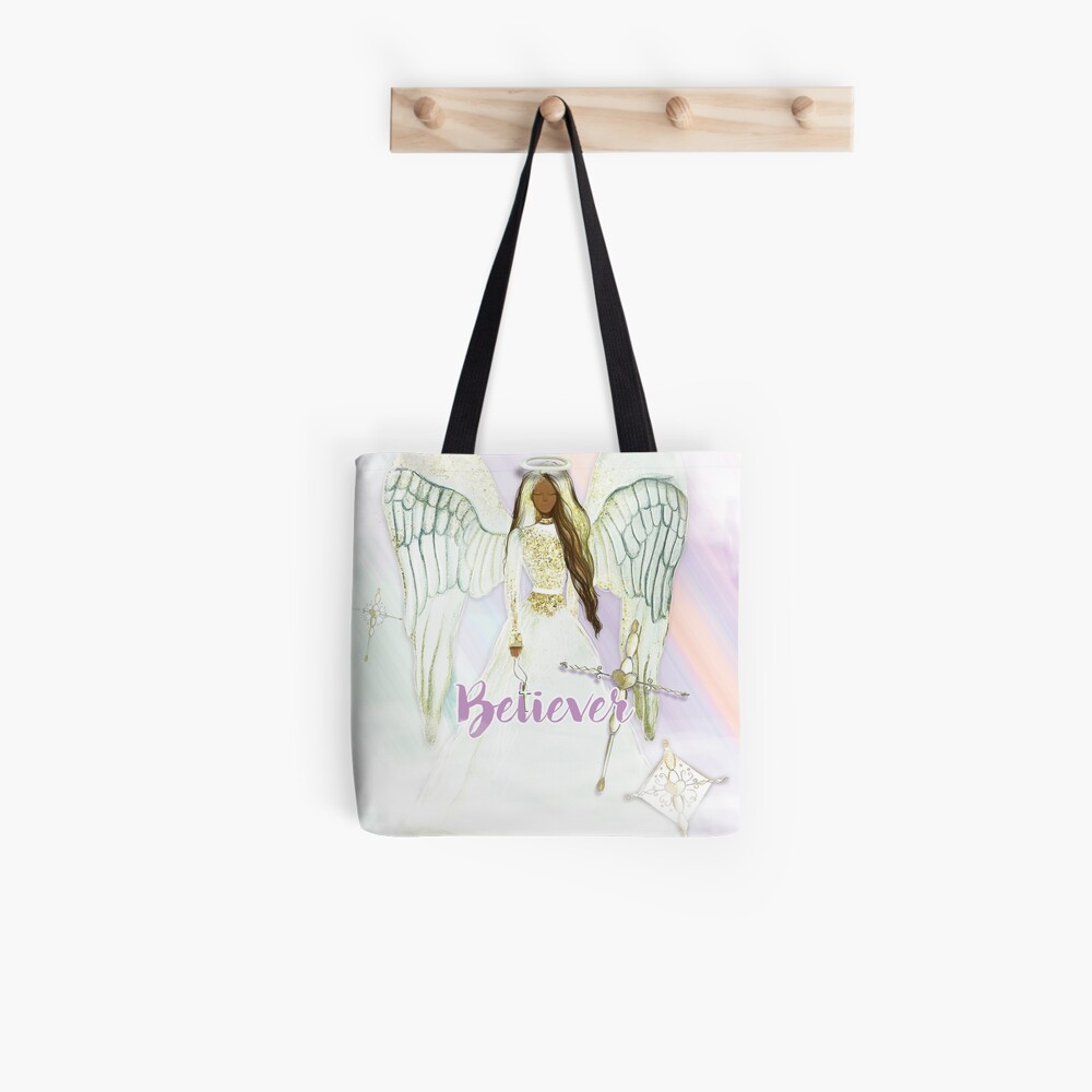 Believer Black Angel Collection Tote Bag