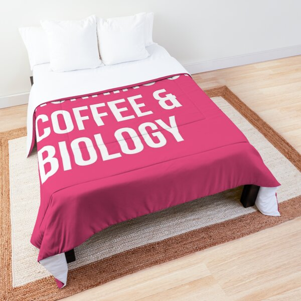 Running on Coffee and Biology for Women Comforter
