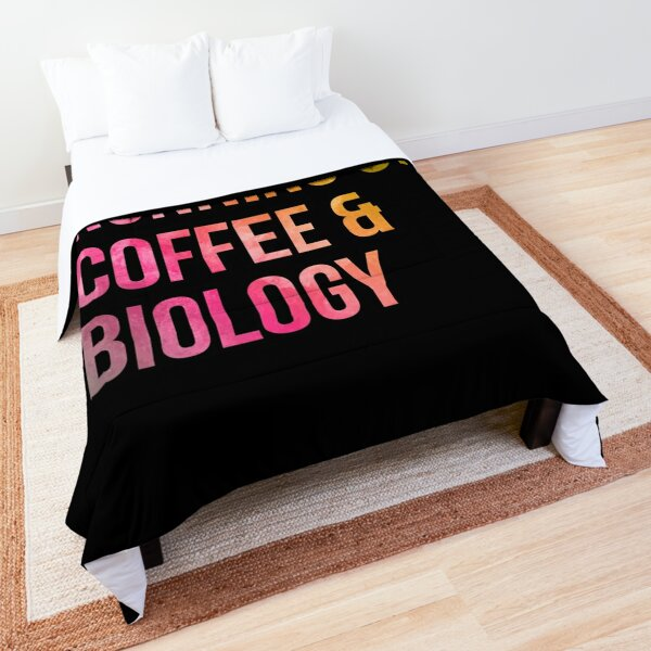 Running on Coffee and Biology in Watercolor Comforter
