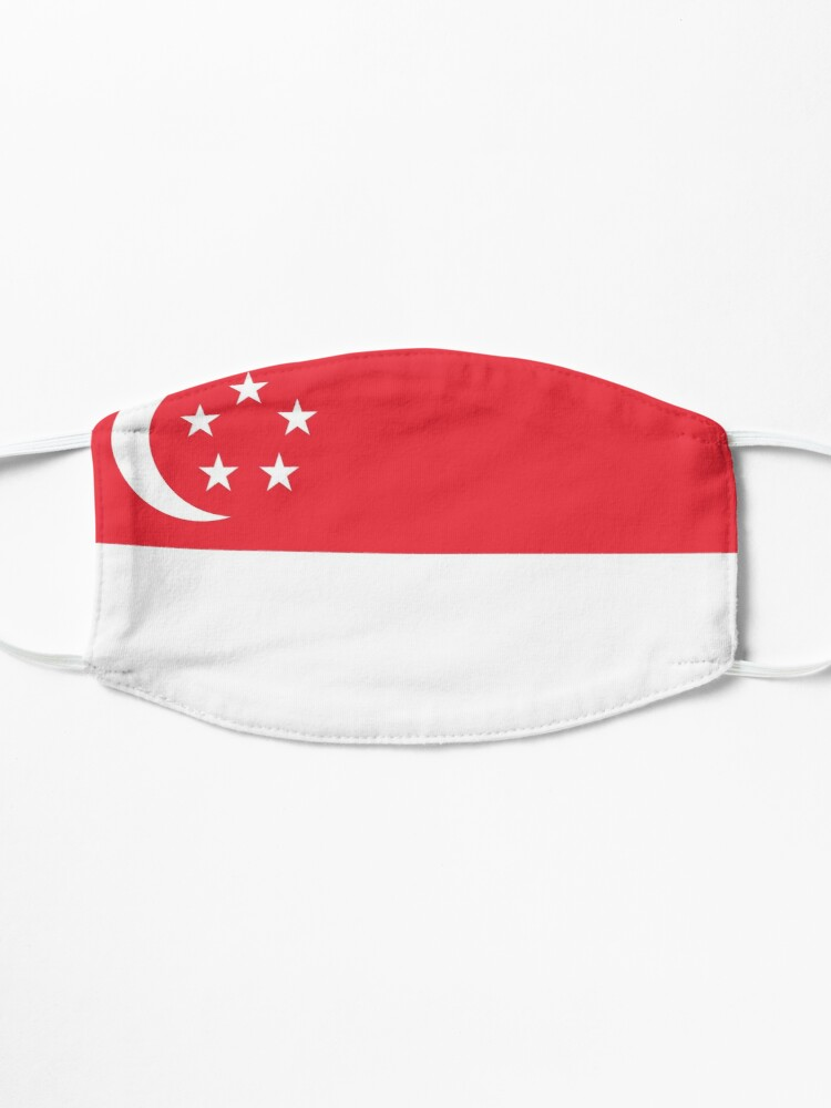 Alternate view of Singapore Flag Face Mask Mask