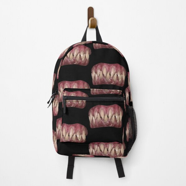 Funny Sharp Yellow Monster Teeth Backpack