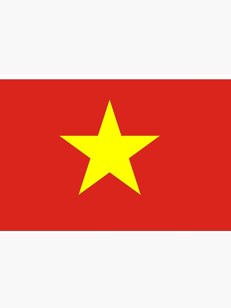 Vietnam Flag Face Mask by ds-4