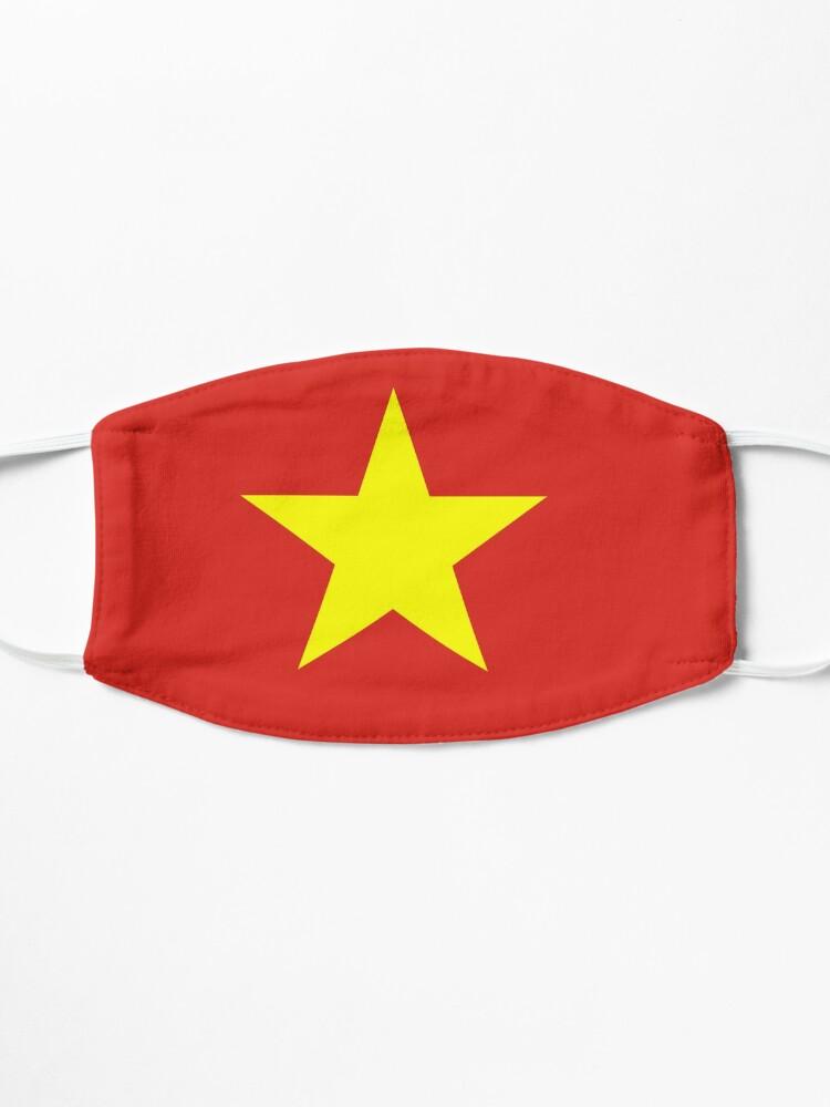 Alternate view of Vietnam Flag Face Mask Mask