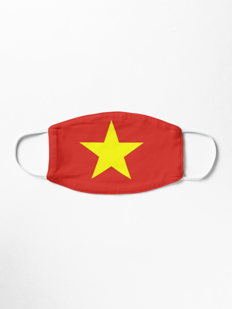 Alternate view of Vietnam Flag Face Mask Mask