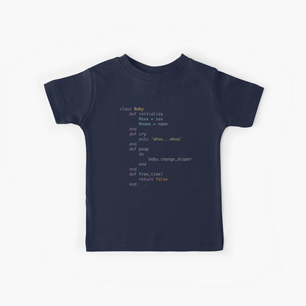 Codificando a papás y mamás Camiseta para niños