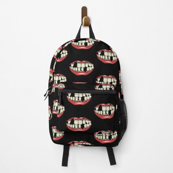 Funny Lipstick Mouth And Missing Teeth Backpack
