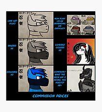 Commission info Photographic Print