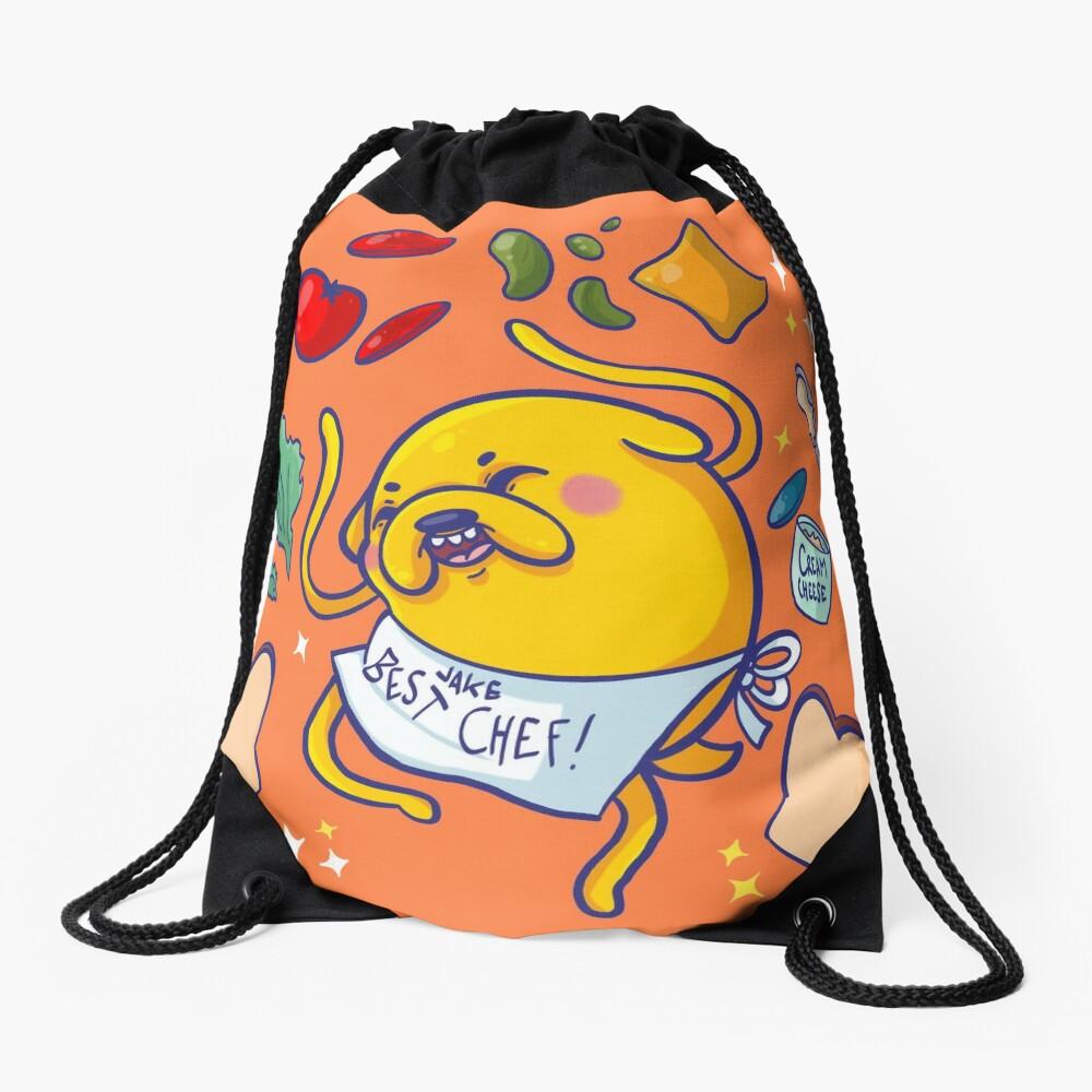 Make a sandwich with jake! Drawstring Bag