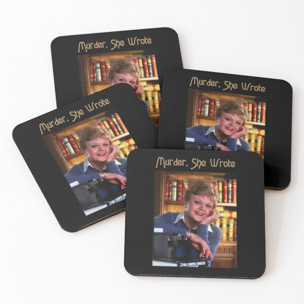 Vintage Murder She Wrote Love Jessica Fletcher's Gifts Coasters (Set of 4)