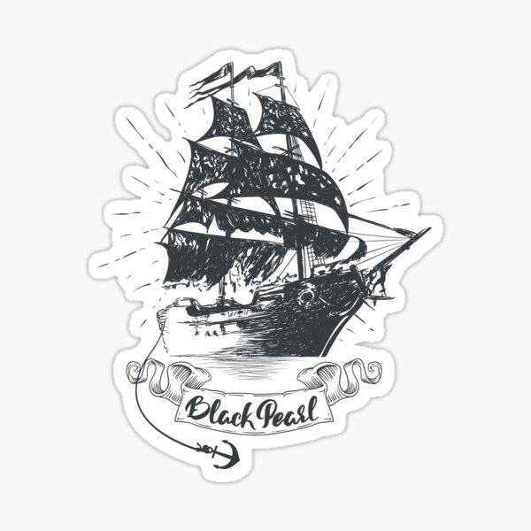 Black Pearl Ship - Pirates des Caraïbes Sticker