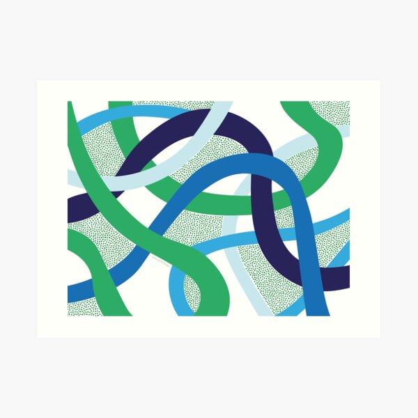 Calming Curves Art Print