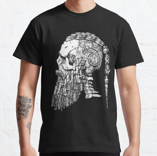 Bearded Viking Skull Viking Tattoo Ragnar Viking Classic T-Shirt