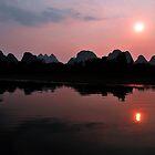 Li River Cruise, Yangshuo. China. by Ralph de Zilva