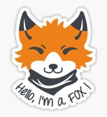 Hello, I'm a FOX! Sticker