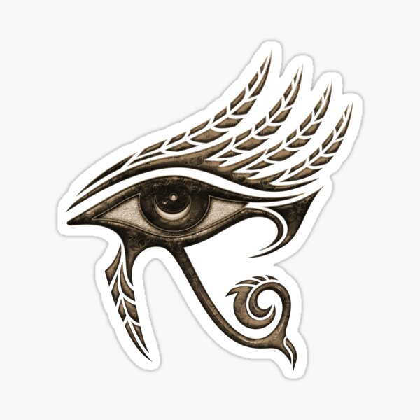 Eye of Horus, protection symbol, lucky charm, protection, luck, health, Egyptian symbol Sticker
