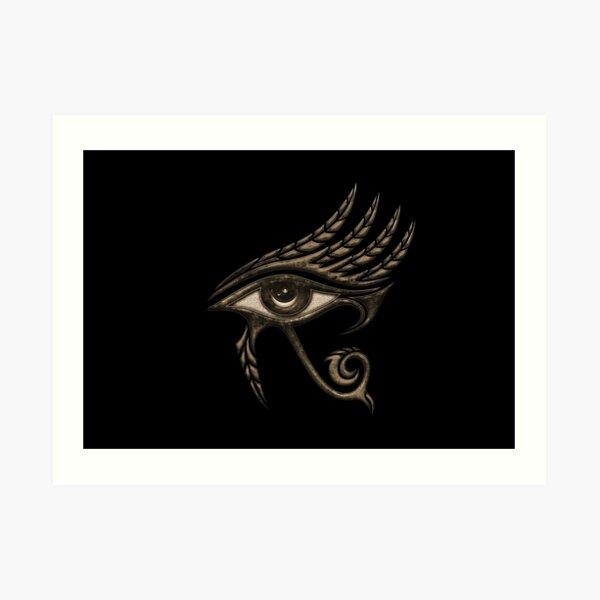 Eye of Horus, protection symbol, lucky charm, protection, luck, health, Egyptian symbol Art Print
