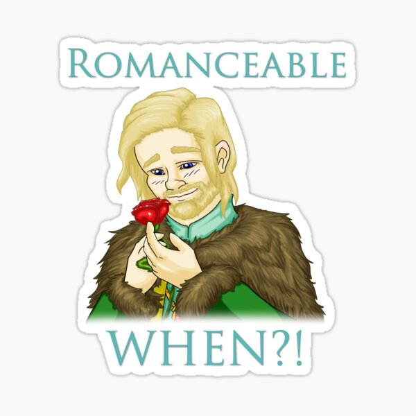 Romanceable When?! - Lucien Flavius Sticker