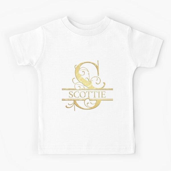 Scottie Name -  Monogram Letter S The Scottie Name Gift For Scottie Kids T-Shirt