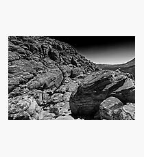 Red Rock Canyon in Black and White Photographic Print