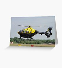 Police Whirlybird Greeting Card