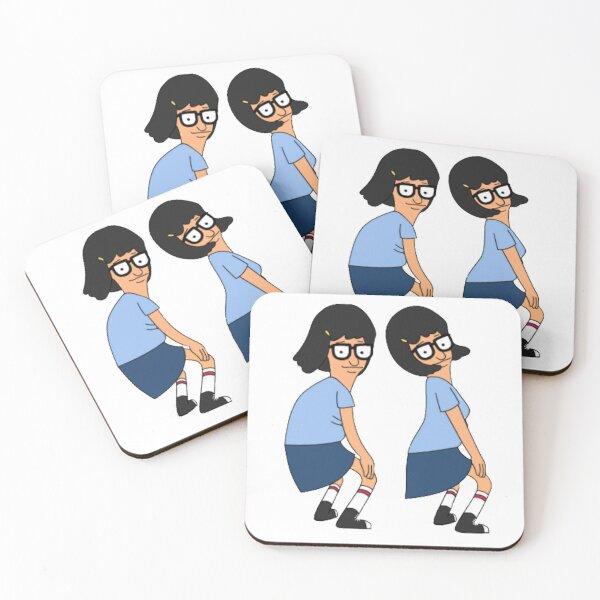Tina twerking Tina Belcher twerk Tina belcher butts Coasters (Set of 4)