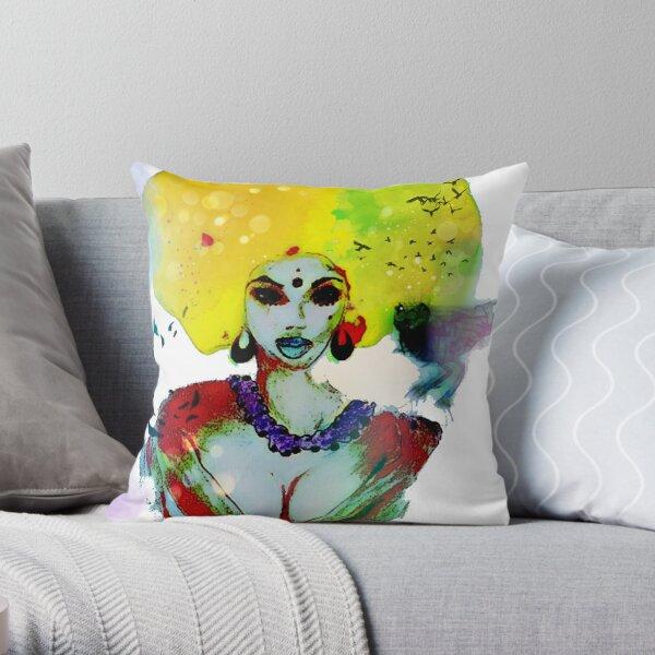 Bird Queen Throw Pillow