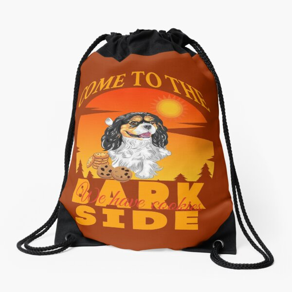 Cavalier King Charles Spaniel Come To The Bark Side We Have Cookies Drawstring Bag