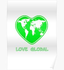 Love Global Green Poster