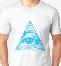 All seeing eye BLUE version Unisex T-Shirt