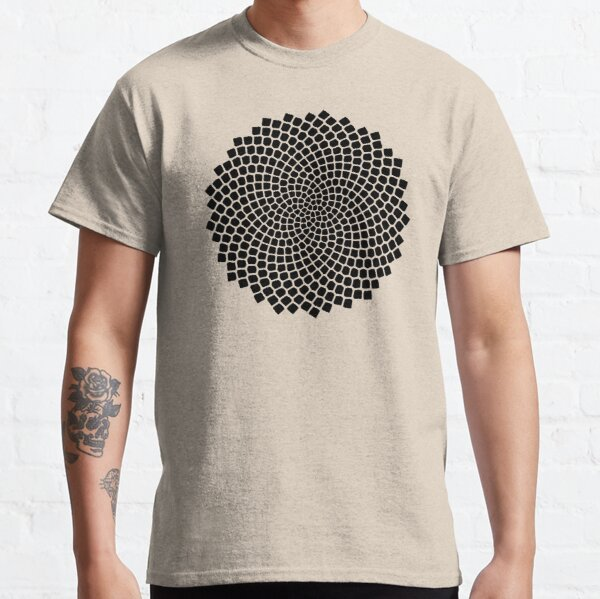 Sunflower, Seed, Fibonacci, Spiral, Golden Ratio, Phi, Math, Mandala Classic T-Shirt