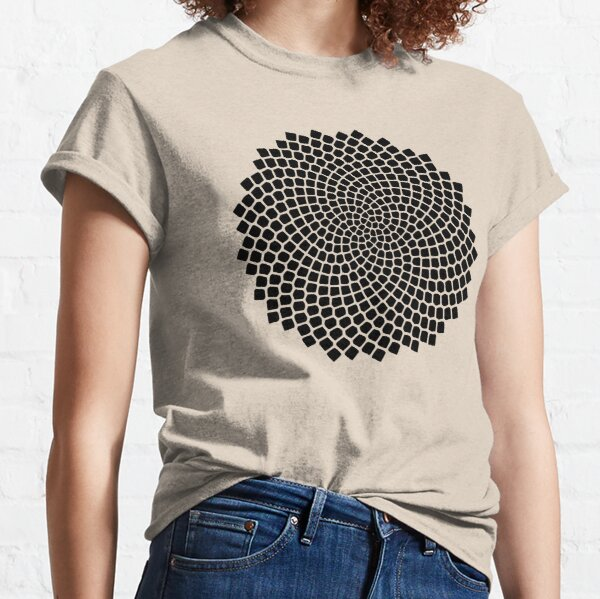 Sunflower, Seed, Fibonacci, Spiral, Golden Ratio, Phi, Math, Mandala Classic T-Shirt