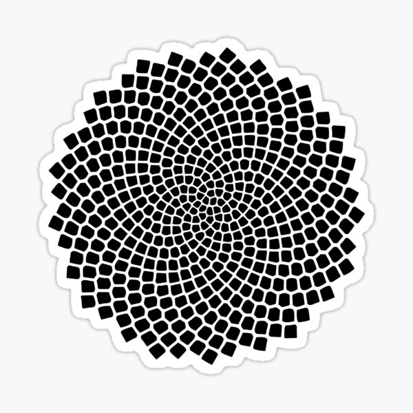 Tournesol, Graine, Fibonacci, Spirale, Ratio d'Or, Phi, Maths, Mandala Sticker
