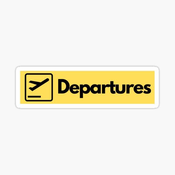 Airport Departures Sign Sticker