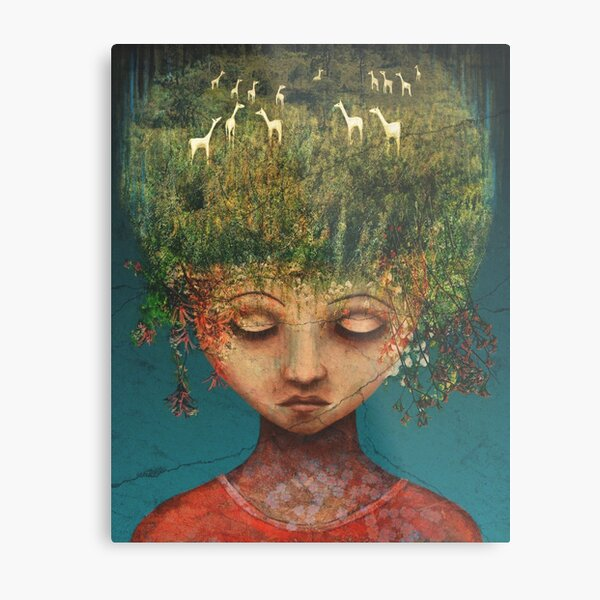 Quietly Wild Metal Print