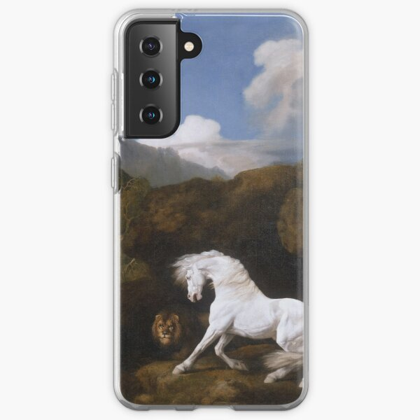 George Stubbs - Horse Frightened By A Lion 1770 Samsung Galaxy Soft Case