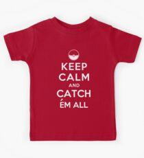 Keep Calm and Catch Em all Kids Tee