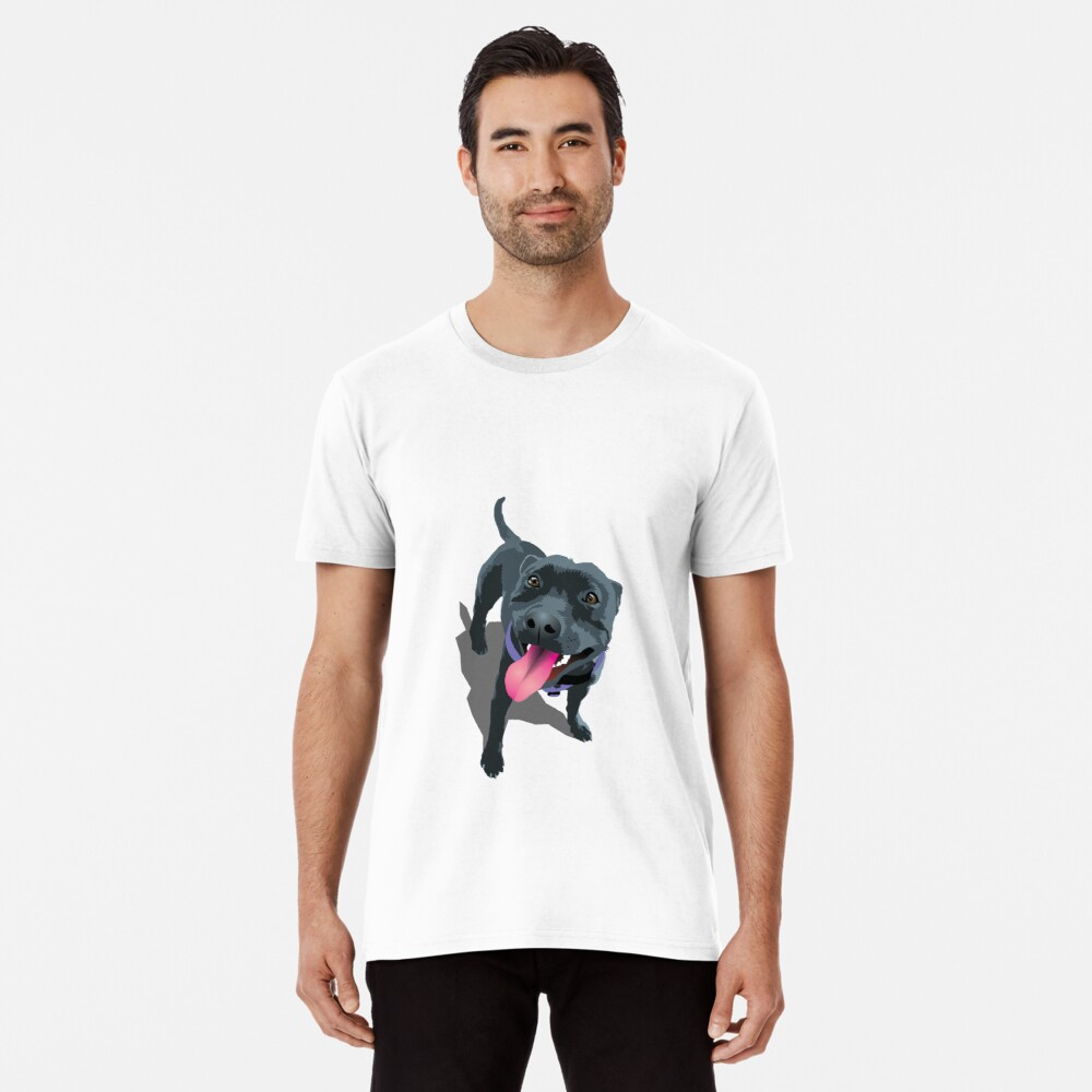 Staffy White Premium T-Shirt