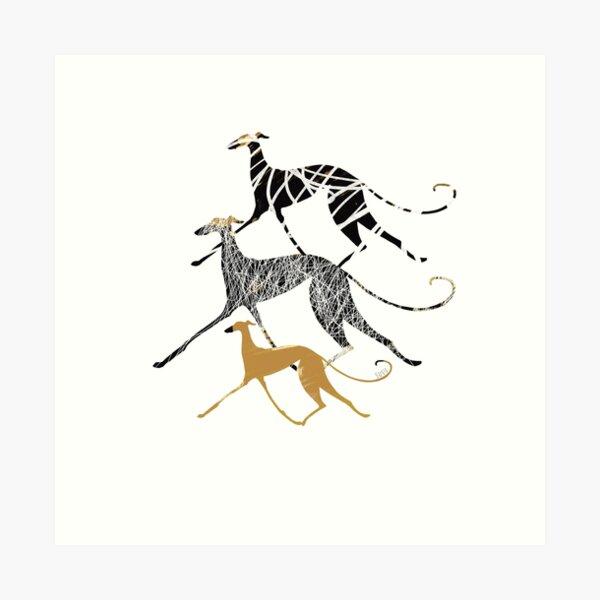 Sighthound Ink Art Art Print