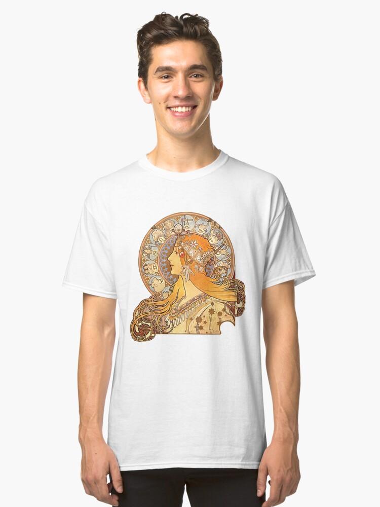 Mucha – Zodiac Classic T-Shirt Front