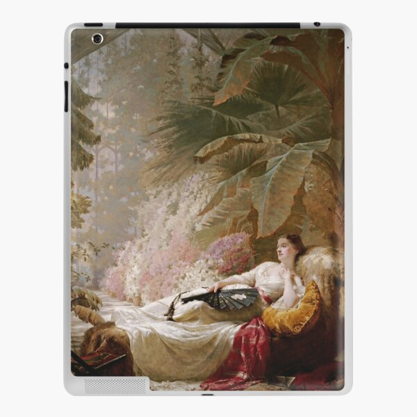 George Elgar Hicks - Portrait Of Adelaide Maria Guinness iPad Skin