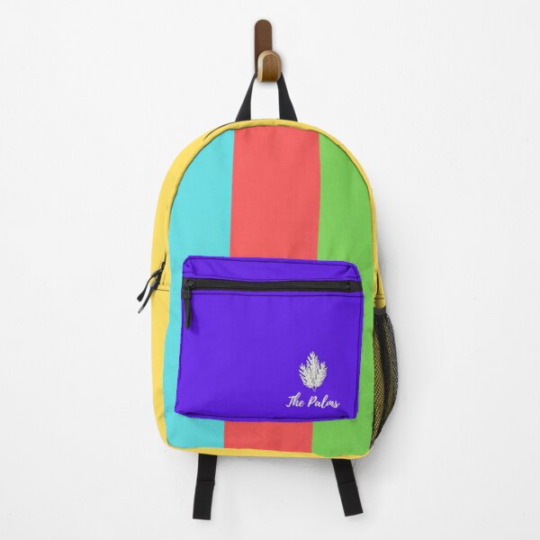 The Palms Blue And Three Color Backpack