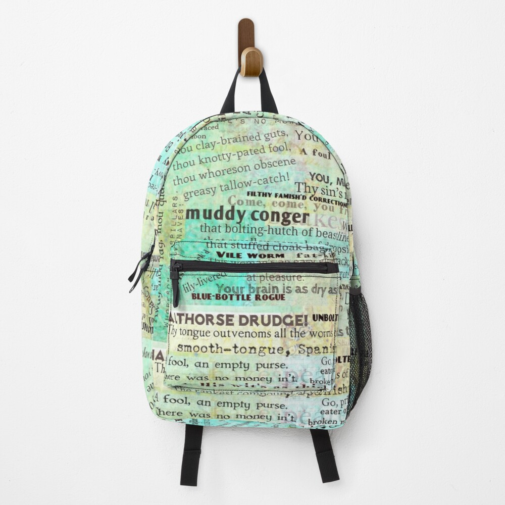 Shakespeare's Best Insults Backpack