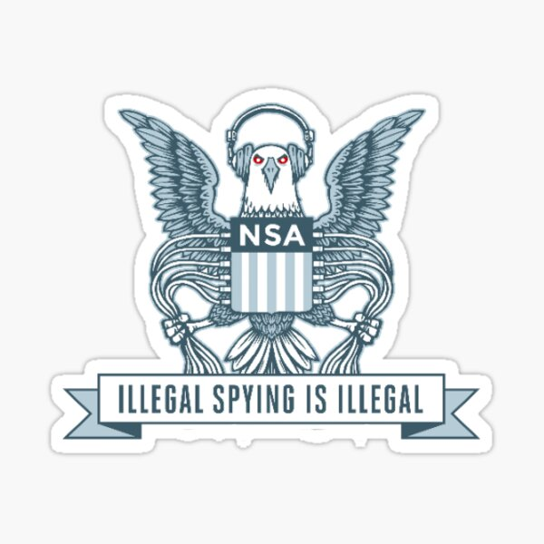 nsa illegal spying is illegal stickers  Sticker