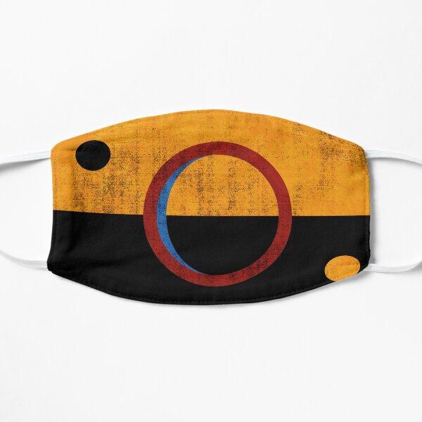 Drapeau de Mars, drapeau de la République du Congrès martien. Masque sans plis