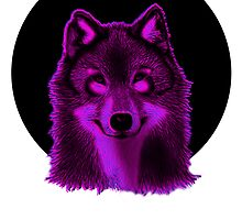 Pink wolf by Keelin  Small