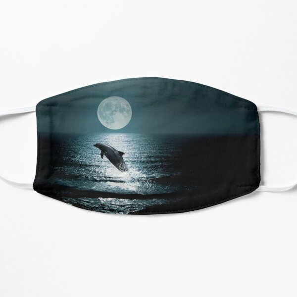 Dolphins in the moonlight collection Mask